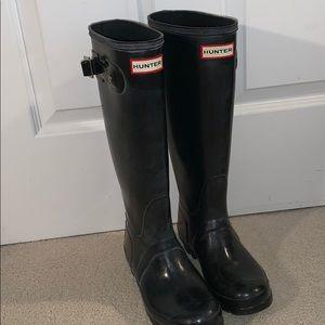 Women's original tall black Hunter Boots